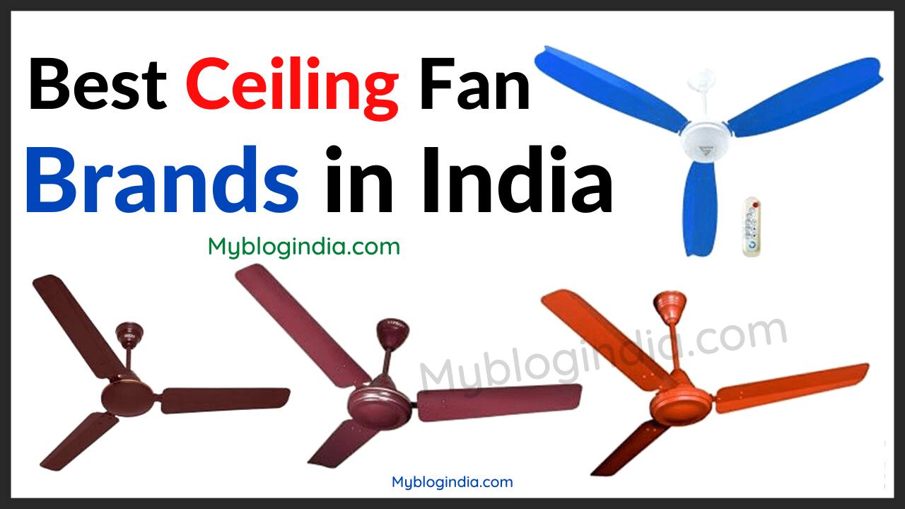 Best Ceiling Fan Brands In India