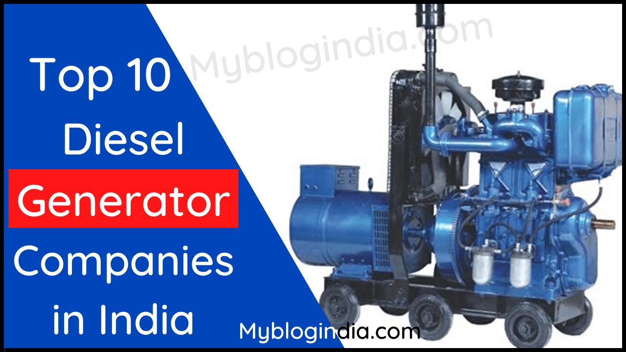 Top 10 Diesel Generator Companies in India